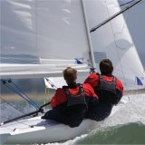 Sailing on the river Teign