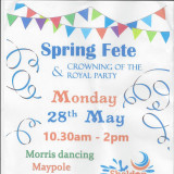 Annual SPRING FETE & Royal party crowning !