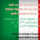 Italian Nights at the Clipper February