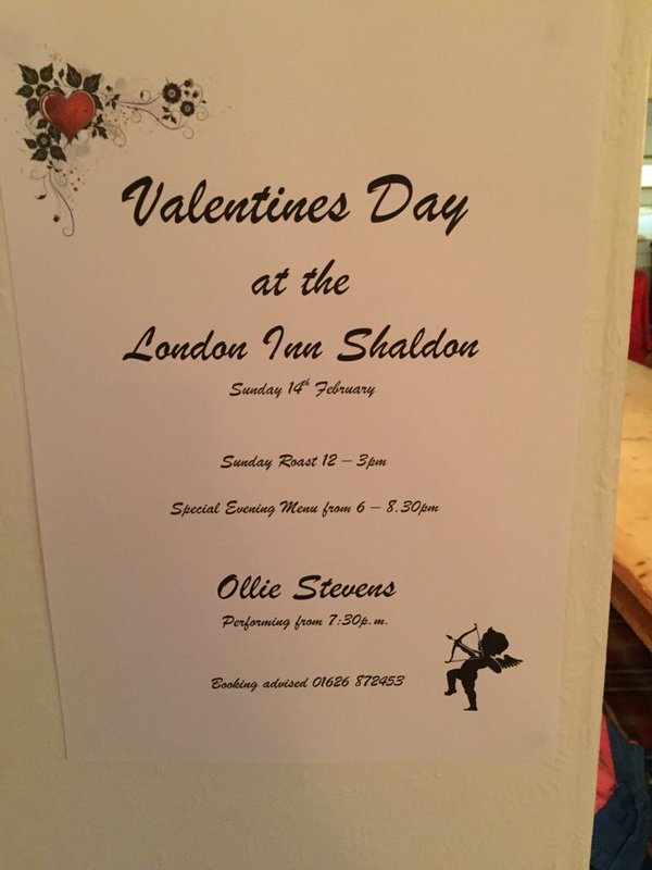 Valentines Day at the London Inn