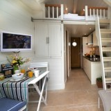 Shaldon Beach Huts Living Area