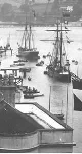 old sailing and fishing boats shaldon