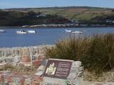 Estuary with plaque